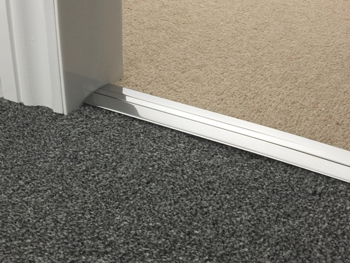 Carpet to Carpet Threshold brushed chrome