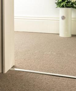 carpet to carpet trim slim d brushed chrome